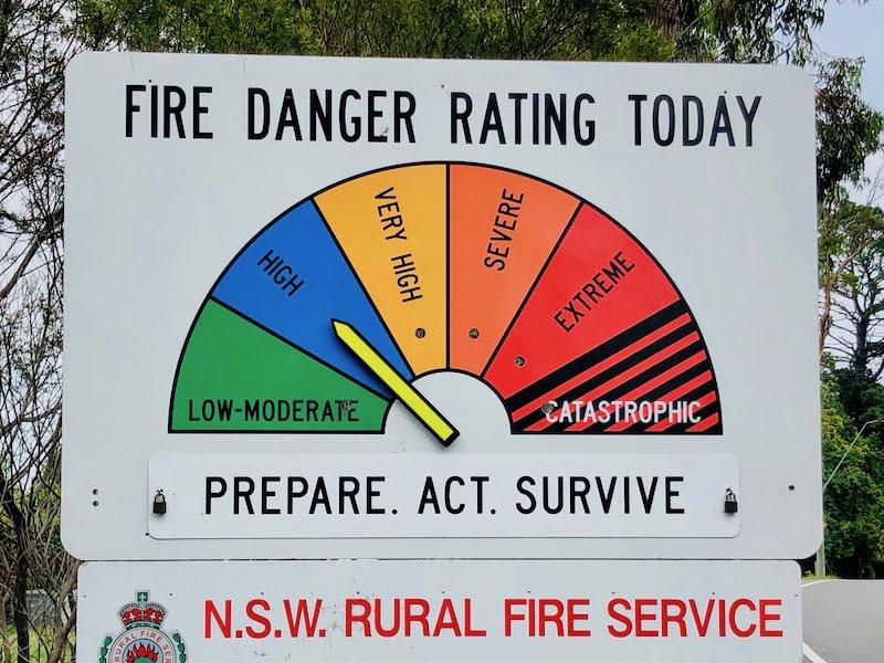 Fire Danger Rating – Neon